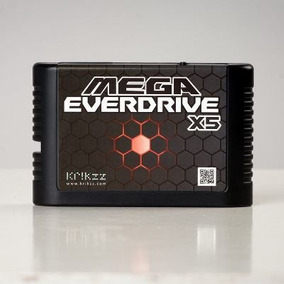 Flashcard Mega Everdrive X5 Krikzz +cartão+shell, Original!