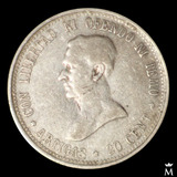 Mg* Uruguay 1920 Moneda 20 Centésimos Plata Muy Buen Estado