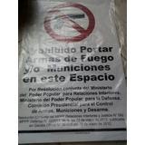 Prohibido Portar Armas De Fuego, 80 X 50cm, Letreros,avisos