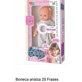 Boneca Anaiza Fala 20 Frases