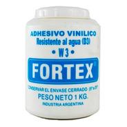 Cola Adhesiva Vinilica W3 Resistente Al Agua 1 Kg Fortex