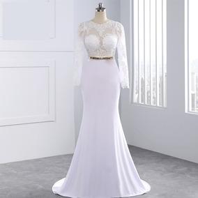 Vestido De Noiva Longo Estilo Sereia Princesa