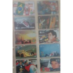 Cartões Telefônicos Airton Senna 10 Cartões Série Incompleta
