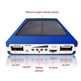 Power Bank Solar 16000 Mah Carga Rápida Con Potente Foco Led