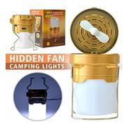 Lampiao Lanterna Led Recarregavel Solar E Usb C/ Ventilador