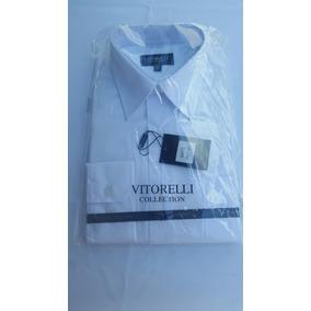 Camisa Social Masculina Manga Longa Vitorelli Collection