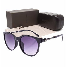 Óculos De Sol Marca Louis Vuitton Preto Dourado Feminino