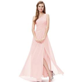 Vestido De Gasa Elegante Gala,fiesta Matrimonio Y Graduacion