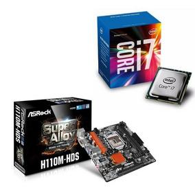 Combo Tarjeta Madre H110m-hds + Procesador I7 - 7700k