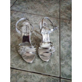Zapatos Plateados De Fiesta