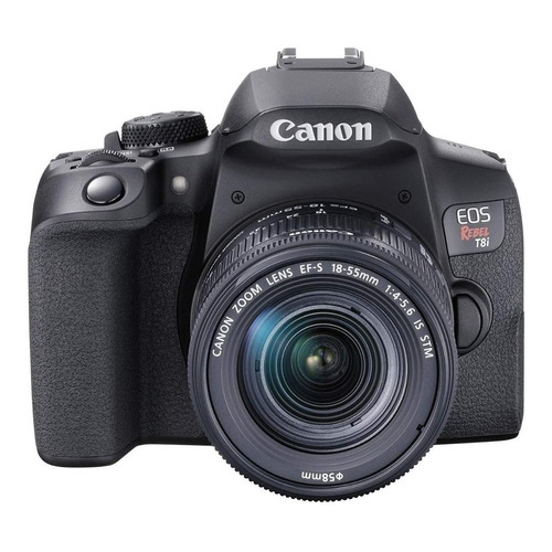 Canon EOS Rebel Kit T8i 18-55mm IS STM DSLR cor  preto
