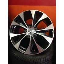 2 Roda Honda New Civic Aro 17 Original Preta C/ Diamantado