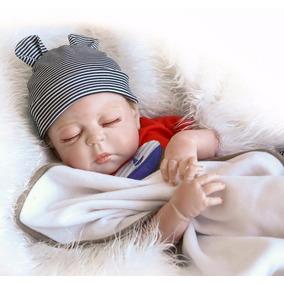 Bebe Reborn Menino Corpo Vinil Silicone Fofo 57cm Frete Grts