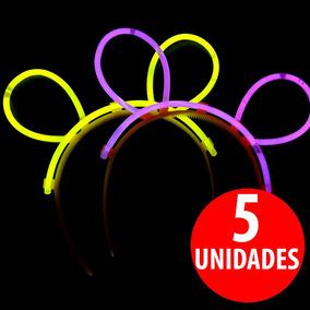 5 Orejas Fluorecentes Pulseras Luminosas Fluor Fiestaclub