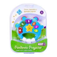 Pandereta Proyector Con Luz Y Sonido Infantil Ar1 7198