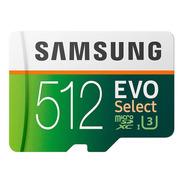 Cartão Micro Sd Samsung Evo Select 512gb 100mb U3 Original