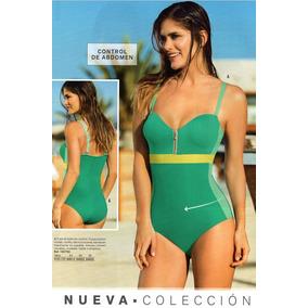 Enterizo Colombiano Strapless Faja En Abdomen Pantalon Playa