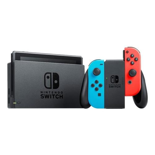 Nintendo Switch 32GB Standard color  rojo neón, azul neón y negro