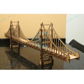 Quebra Cabeça Ponte São Francisco Em Mdf 3mm Frete 0800