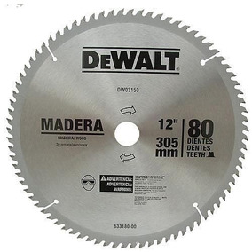 Disco De Serra Para Madeira 12 Pol 80 Dentes Dw-03150 Dewalt