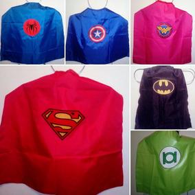 Capas Para Niños Superheroes Recordatorio Fiestas