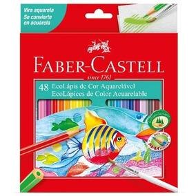 1 Caixas 48 Lapis Aquarelável Faber Castell Original