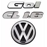 Kit Emblemas Gol Quadrado Cl 1.6 + Vw Mala Modelo Original