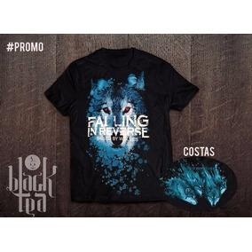 Camiseta Black Tea - Falling In Reverse- Lobo
