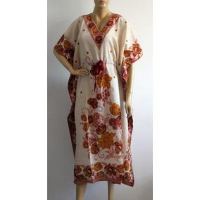 Kaftan Indiana Longo Vestido Estampado Étnico Feminino