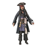Jack Sparrow Pirates Of The Carib Deluxe Diamond Select Toys