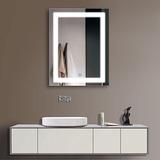 24 X 32 En El Baño Led Vertical Silvered Espejo Con El Botó