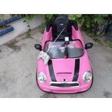 Auto Electrico Mini Cooper Rosa 6v