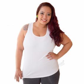 Kit C/ 4 Regatas Feminina Plus Size Dry Fit Fitness