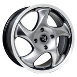 Rines 18x8 4-130 L963 Machine Hyper Black Jgo 4 Pzas