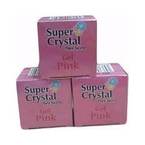 Gel Super Cristal Pink, 1/2 Oz 15ml