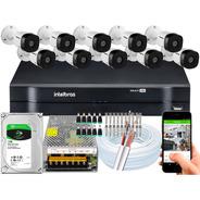 Kit 10 Câmeras Intelbras G5 Multi Hd 720p 1mp Dvr 16 Canais
