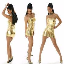Natasja Na-522 Mini Vestido Straples Metalizado