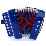 Sky Acordeón Color Azul 7 Botones 2 Instrumento De Música...