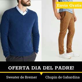 Pantalon Chupin Gabardina Sweater Bremer Hombre Dia De Padre