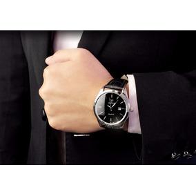 Relogio Masculino Elegante Pulseira Genuine Leather (couro)