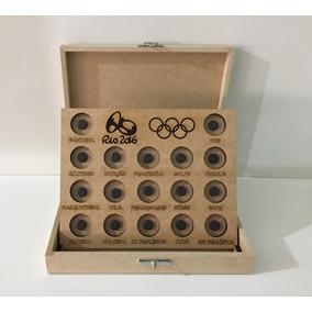 Expositor De Moedas Das Olimpiadas 2016 Com Caixa E Tampa