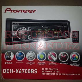 Reproductor Pioneer Deh X6700bs Usb Bluetooth Ipod 6 Salidas