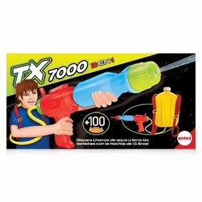 Pistola De Agua Tx 7000 3 En 1 Con 100 Bombuchas Antex