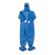 Overol Desechable Azul Con Escafandra 35gr (pack 5 Unidades)
