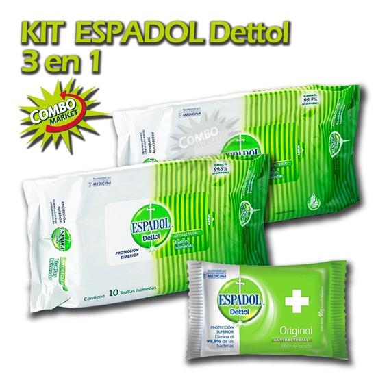 Set Toallitas Desinfectantes Espadol Detol 3en1 Combomarket