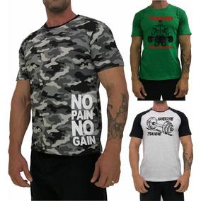 Kit 3 Camisetas Masculina Algodão Camisetas Camisa Blusas