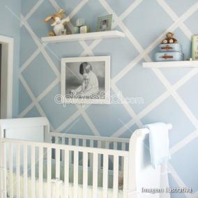 Papel De Parede Adesivo Infantil Bebê Menino Lavável Azul