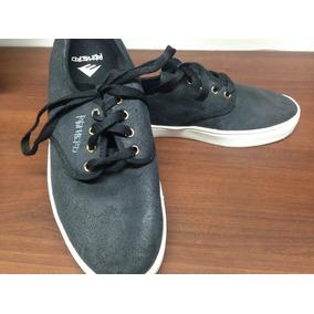 Zapatos De Hombre Emerica Romero Negro Gamuza