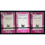 Lote De 3 Libros Coleccion Austral, Darío Becquer Lope Vega