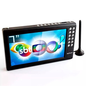 Mini Tv Digital Portátil 7 Polegadas Full Hd Usb Sd Rádio Fm